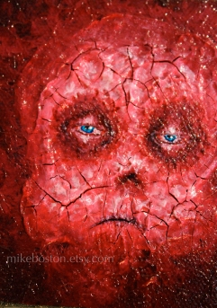 Acrylic and mediums on canvas