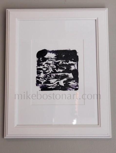 Monotype, Acrylic on Illustration board