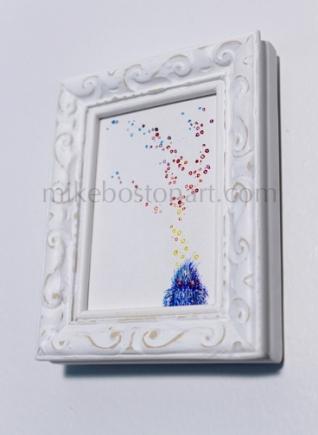 """2""""x3"""" Acrylic on canvas"""